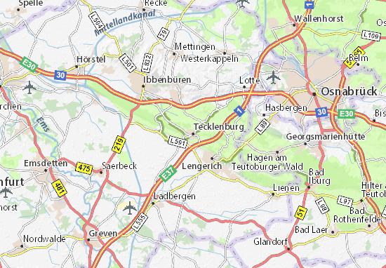 Karte Stadtplan Tecklenburg