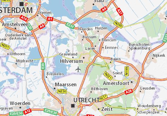 Kaart Plattegrond Hilversum