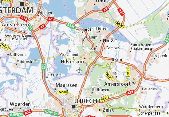 Mapa Hilversum