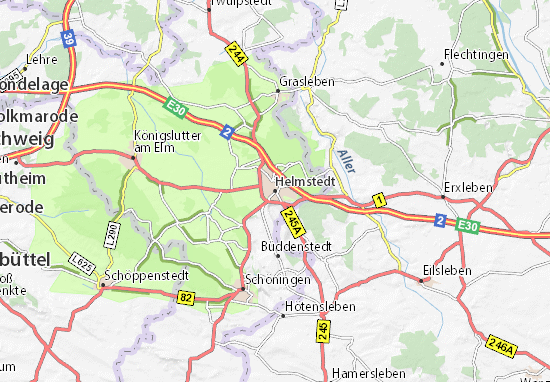Mapa Plano Helmstedt
