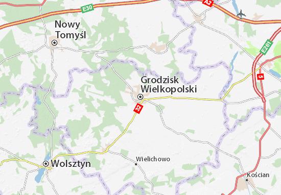 Grodzisk Wielkopolski Map