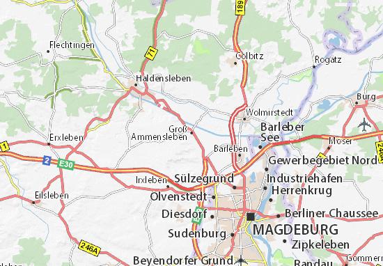 Groß Ammensleben Map