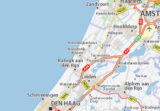 Karte Stadtplan Noordwijk-Binnen