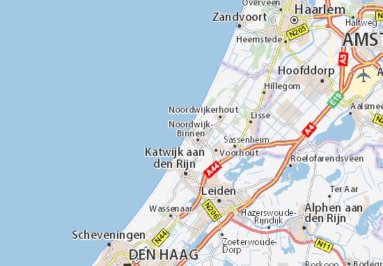 holland karte noordwijk Karte, Stadtplan Noordwijk aan Zee   ViaMichelin