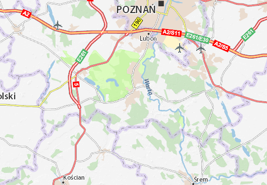 Mosina Map