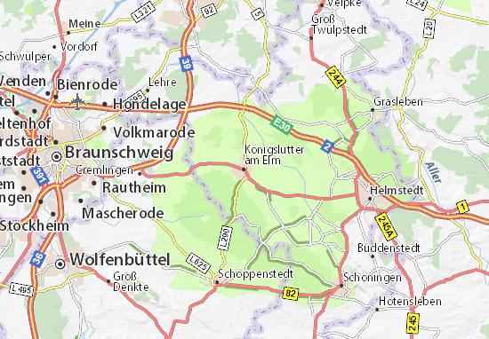 Kaart Plattegrond Königslutter am Elm
