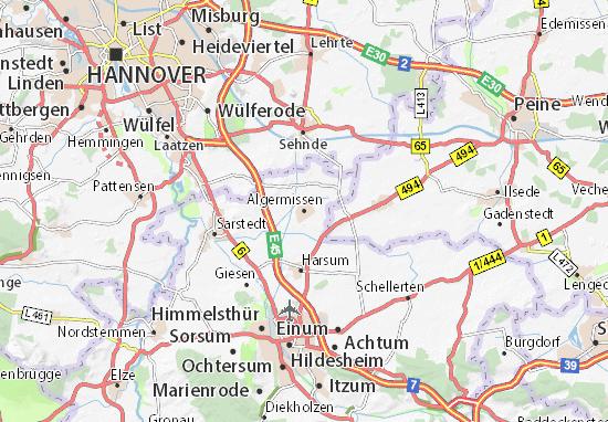Karte Stadtplan Algermissen