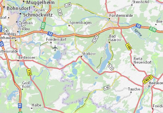 Storkow Map