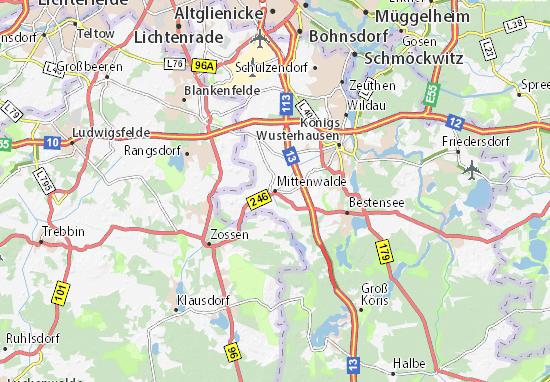 Mapa Plano Mittenwalde