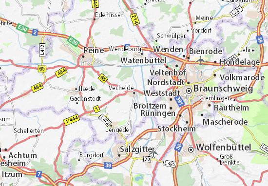 Mapa Plano Vechelde