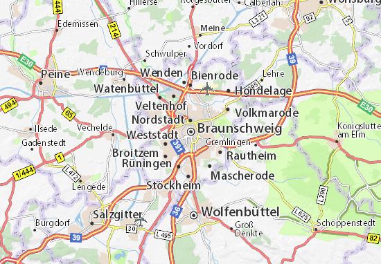 Carte-Plan Braunschweig