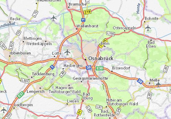 Karte Stadtplan Osnabrück