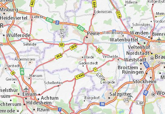 Karte Stadtplan Ilsede