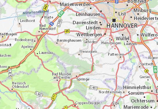 Karte Stadtplan Wennigsen