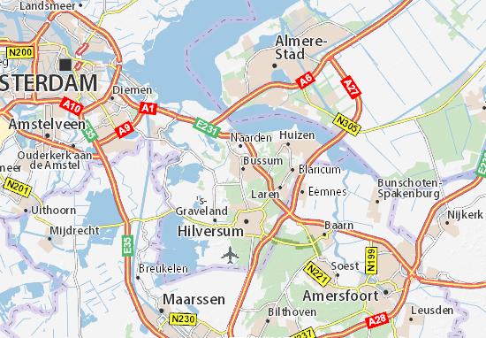 Kaart Plattegrond Bussum