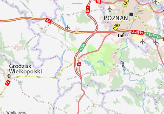 Stęszew Map