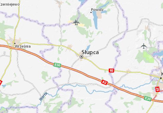 Słupca Map