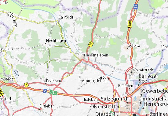 Carte-Plan Haldensleben