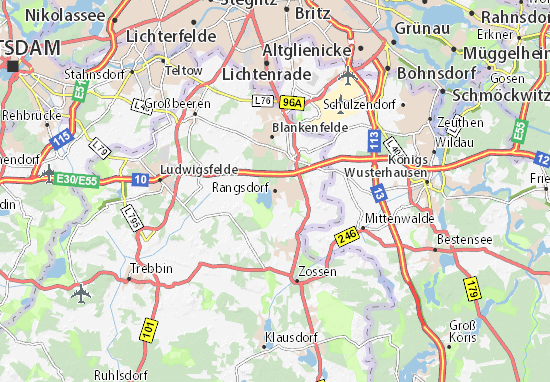 Carte-Plan Rangsdorf