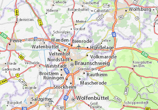 Karte Stadtplan Querum Viamichelin