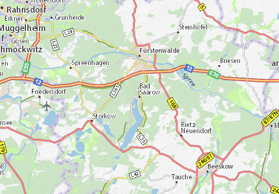 Bad Saarow Map