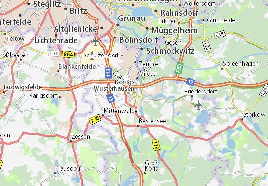 Königs Wusterhausen Map