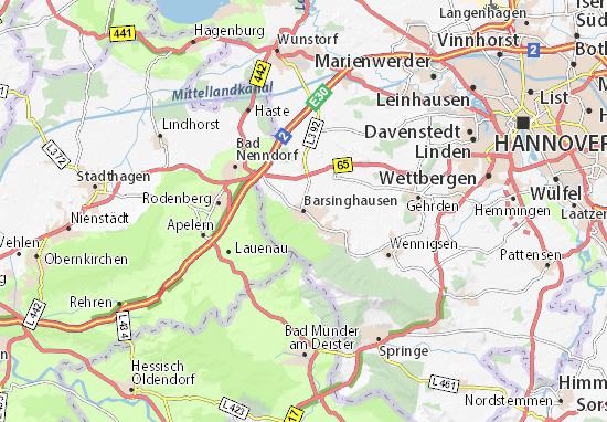 Kaart Plattegrond Barsinghausen