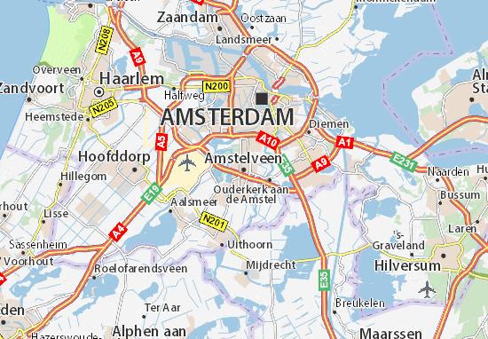 Kaart Plattegrond Amstelveen