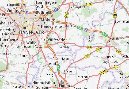 Karte Stadtplan Sehnde