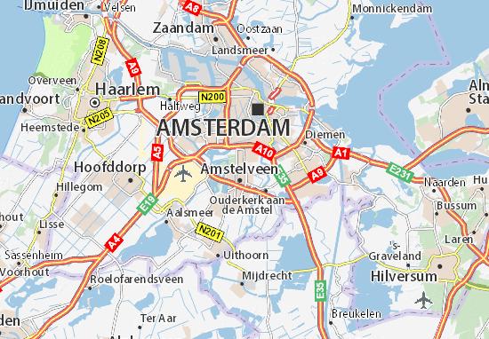 Kaart Plattegrond Ouder-Amstel