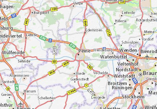 Karte Stadtplan Peine