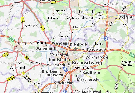 Karte Stadtplan Wenden