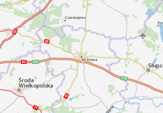 Września Map