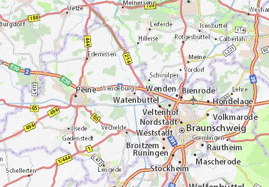 Karte Stadtplan Wendeburg