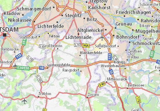 Carte-Plan Blankenfelde
