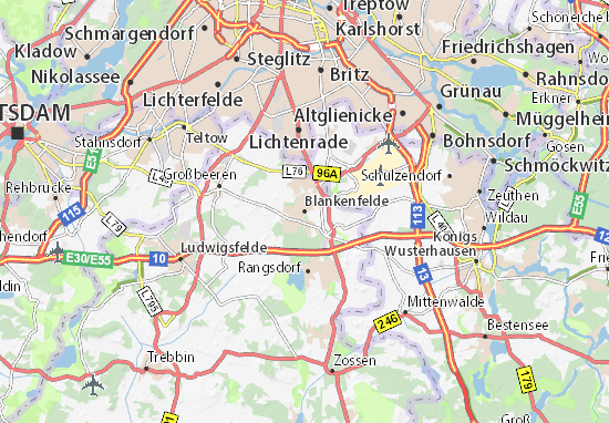 Karte Stadtplan Blankenfelde