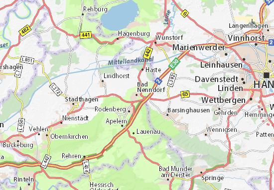 Karte Stadtplan Bad Nenndorf