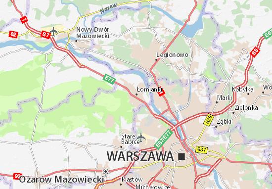 Mapa Łomianki