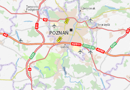 Luboń Map
