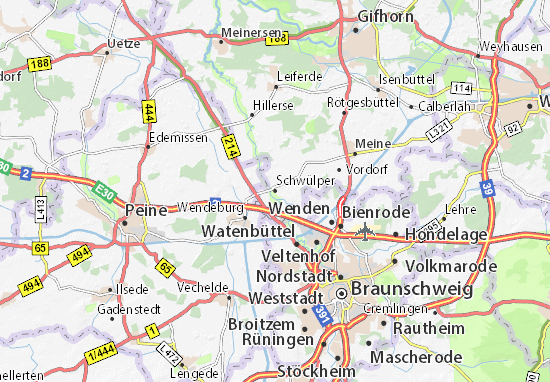 Karte Stadtplan Schwülper
