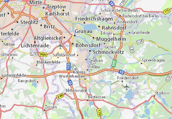 Carte-Plan Zeuthen