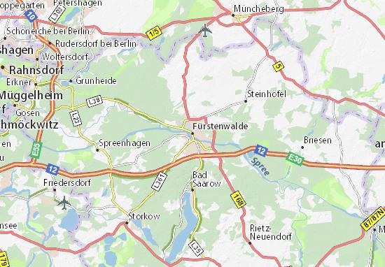 Karte Stadtplan Fürstenwalde