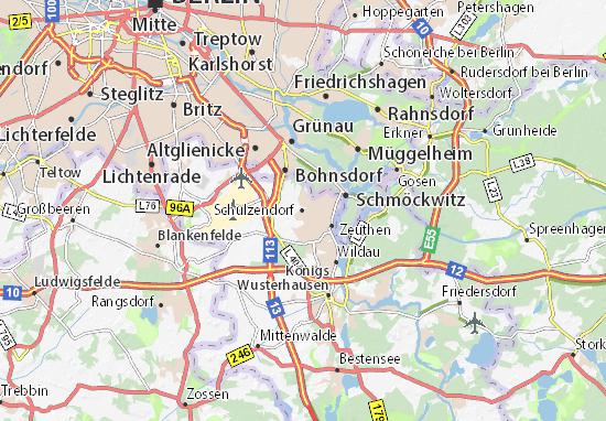 Karte Stadtplan Schulzendorf