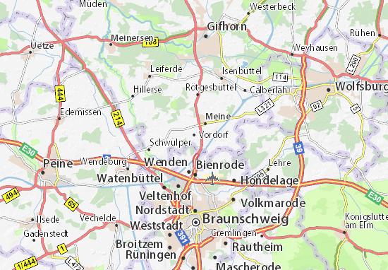 Kaart Plattegrond Vordorf