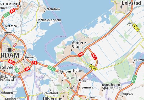 Mapas-Planos Almere-Stad