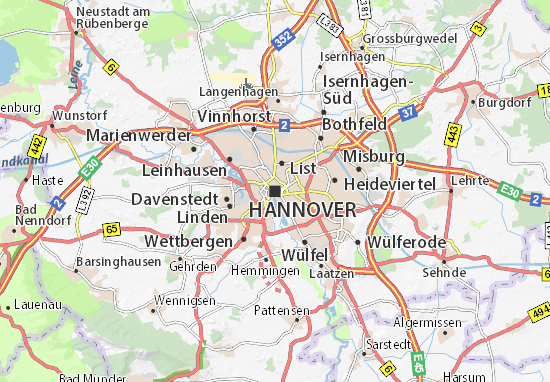 Hanover Map: Detailed maps for the city of Hanover - ViaMichelin on map of sydney australia, map of rail dusseldorf to cologne germany, map of wittlich germany and dusseldorf, map of krefeld, map of europe, map of germany dusseldorf germany,