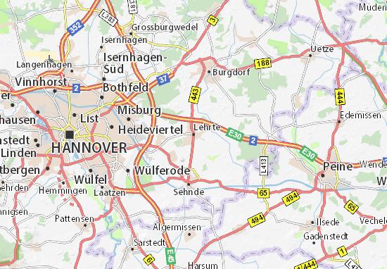 Lehrte Map