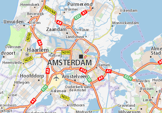 Map Of Amsterdam Michelin Amsterdam Map ViaMichelin - France driving distances map