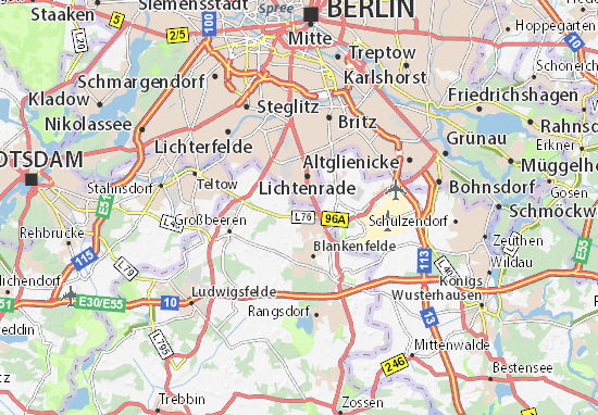 Map of Berlin - Michelin Berlin map - ViaMichelin
