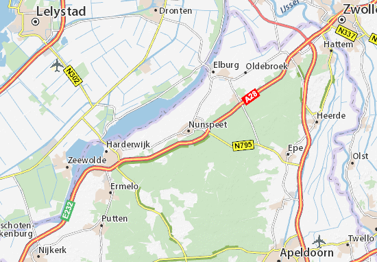Nunspeet Map